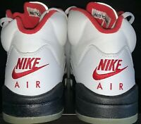 80194007f7e20a Nike Air Jordan 5 1999 Fire Red Mens 9 Silver Box Launch No Crumbling  Deadstock
