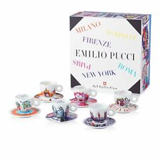 illy Art Collection 2016 - Emilio Pucci - Limited Edition CAPPUCCINO 6 Cups New!