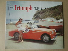 Triumph TR2 sports car brochure.Triumph cars brochure.