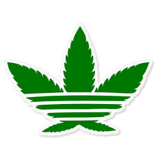"Cannabis Weed Marijuana brand bumper sticker 5"" x 4"""