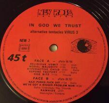RARE DEAD KENNEDYS IN GOD WE TRUST Misprint Vinyl ALTERNATIVE TENTACLES VIRUS 3