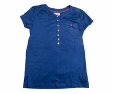 Juicy Couture Kids Girls Navy Button Front Short Sleeved T-Shirt Age 14 Years