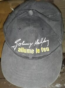 JOHNNY HALLYDAY ALLUME LE FEU RARE CASQUETTE