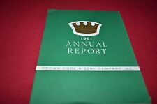 Crown Cork & Seal Company Report For 1961 Dealers Brochure YABE12