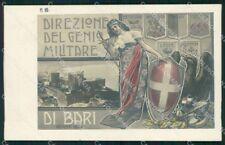 Militari Reggimentale Direzione del Genio Militare di Bari Foto cartolina XF6899
