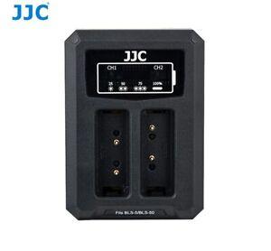 JJC DCH-BLS5 USB Dual Battery Charger for Olympus BLS-1/BLS-5/BLS-50 JJC B-BLS5
