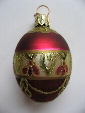 Rare Christopher Radko Egg Dreams Gem Glass Christmas Ornament MINT