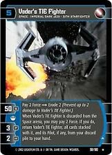 Star Wars TCG: Vader's TIE Fighter (A) [Moderately Played] A New Hope ANH WOTC W