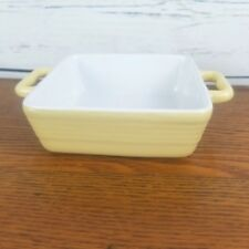 """Square Baking Dish Yellow Small 5"""" Porcelain Handles Home Essentials Minis Bake"""