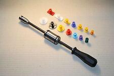 Ausbeulwerkzeug Dellenlifter mit 14 Klebeadaptern inkl PDR Zughammer Set