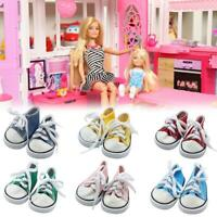 Canvas Shoes American Doll Fashion Sneakers 18 Inch Doll Shoelace Cloth Shoes