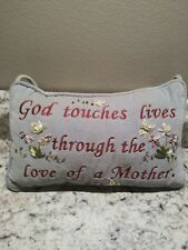 Embroidered Hanging Pillow Love Of Mother Gray Red 10 x 6 x 3  Mother's Day Gift