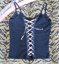 Rare! BOUTIQUE *Doris Goldberger @ No:Wear* Lace-Up Basque Corset Vest Top S/M