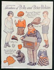 Polly & Peter Perkins Paper Dolls, Pictorial Review Mag. by Gertrude Kay, 1933