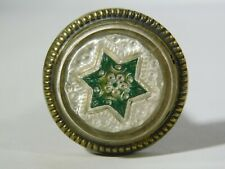 Vintage Glass Victorian Picture Hanging Nail  STAR Pattern 1 Inch diameter #2