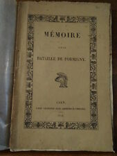 Lambert, Mémoire sur la bataille de Formigny. 1824  [Guerre de cent ans]