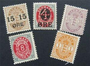 nystamps Denmark Stamp # 44//56 Mint OG H      S24x348