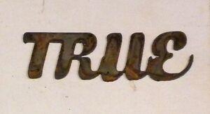 "4"" TRUE Rusty Rough Metal Wall Art Vintage Craft Ornament Sign Stencil Wedding"