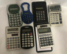 Hand Held Electronic Lot Of Calculators Texas Instrument Sharp Casio Staples