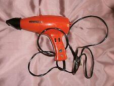Sèche cheveux vintage MOULINEX en matière synthétique orange - Collector !