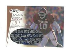 2001 SAGE BRONZE TORRANCE MARSHALL AUTO #d 16/650 GREEN BAY PACKERS