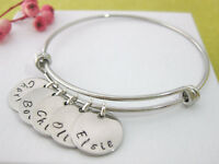 Personalised Bangle Bracelet 1, 2, 3, 4, 5, 6, 7 or 8 Names Family Gift