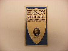 Original Edison Phonograph Catalog  - Edison Records August, 1908 Form 1400