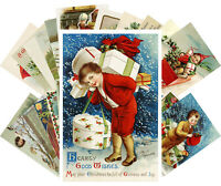Postcards Pack [24 cards] Vintage Christmas Cute Funny Kids Winter Scene CH4018