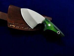 "4"" SEO Custom Handmade Full Tang D2 Tool Steel Fixed Blade EDC Combat Neck Knife"