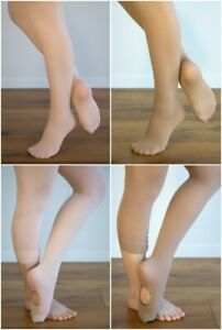 DANCE TIGHTS Ballet Pink/Tan(Skin Tone) TRIO PACK Footed/Convertible 3 Prs