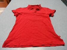 Dickies red girls size L collar pullover top