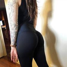 Women PUSH UP Yoga Leggings Pants  Fitness High Waist Sport Jogging Gym Trousers