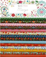 Lewis & Irene MAYA Monkey Folk Floral Bright Boho Cotton Patchwork Fabric