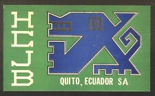"QSL ""HCJB"" 15.255 MHz Radio Quito S A Primitive Art Shortwave DX SWL 1969"