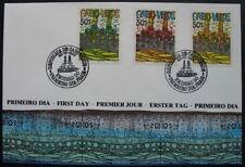 s133a) Kap Verde Cabo Verde Block 7 - 9 auf FDC Vapor 1985 Hundertwasser