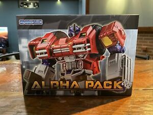 SparkToys Transformers Alpha Pack ST-01 Optimus Prime 8.5in Figure Limited NEW