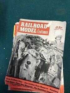 Lot Of 11 Model Railroader Magazine 1953