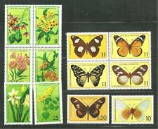 ST THOMAS AND PRINCE 501-06 MNH FLOWERS AND BUTTERFLIES SCV 20.40