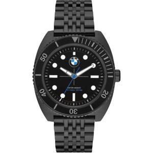 Mens Wristwatch BMW BMW6011 Stainless Steel Black Sub 100mt NEW