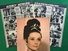 XX40 Clipping Ritaglio Picture presse (1973) 33x26cm 4 pag - AUDREY HEPBURN