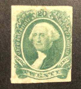 TDStamps: US Confederate States CSA Stamps Scott#13 Mint HR OG Lightly Crease