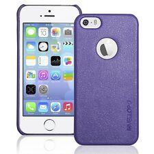 iPhone 5S Case, INVELLOP Royal Purple Leatherette Case Bumper Cover for Apple