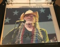 WILLIE NELSON Hand Signed Autographed 8x10 Photo with COA! RARE Free Shipping!