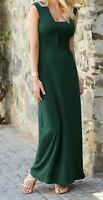 New Bravissimo 8-18 CRC RSC Deep V Neck Dark Teal Green Maxi Party Dress