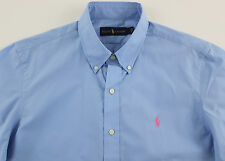 Men's RALPH LAUREN Light / French Blue Cotton Shirt S Small NWT NEW Pink Pony