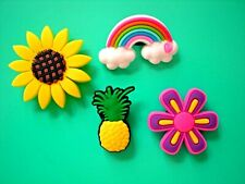 Clog Shoe Charm Button Pin Pineapple For Wristband For Accessories
