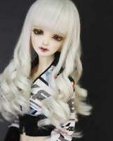 "1/6 6-7"" BJD Doll Wig Light Blonde Spiral Curls Curly Hair Long Graceful UA-8#"