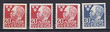 Schweden 1946 postfrisch MiNr. 325 mit geschnitten und 326