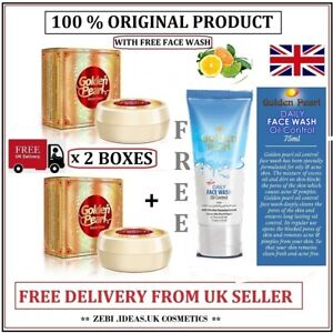 2 x Golden Peral Beauty Creams For Acne Wrinkles,Dark Circles + (FREE) Face Wash