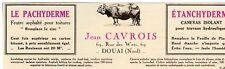 JEAN CAVROIS PACHYDERME FEUTRES POUR  TOITURE DOUAI PUBLICITE PUB 1929 FRENCH AD